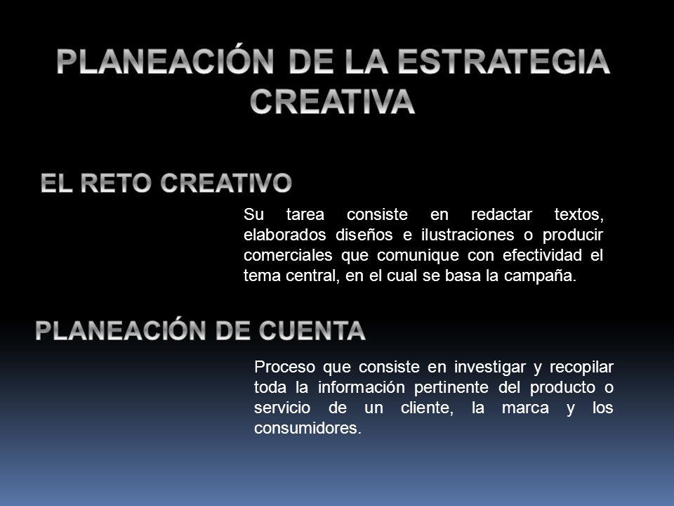PLANEACIÓN DE LA ESTRATEGIA CREATIVA