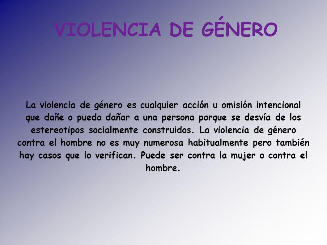 Violencia de g nero la violencia de g nero es cualquier acci n u omisi n intencional que da e o - Casos de violencia de genero ...