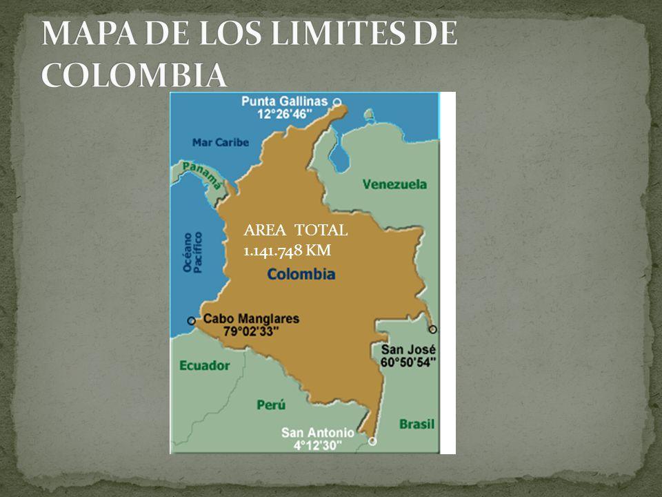 MAPA DE LOS LIMITES DE COLOMBIA