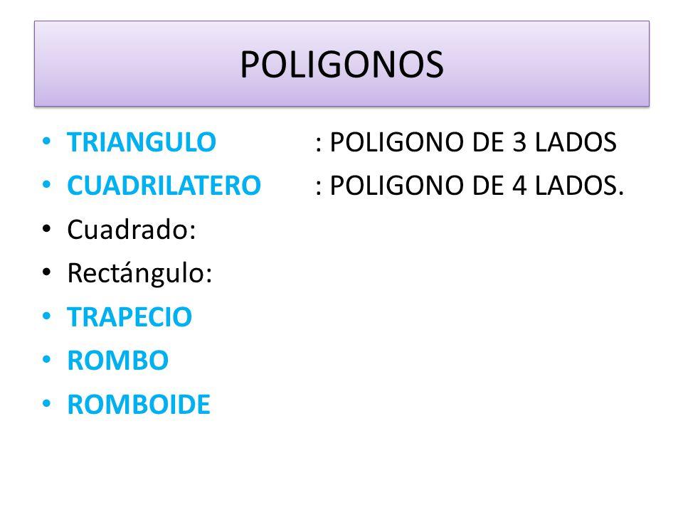 POLIGONOS TRIANGULO : POLIGONO DE 3 LADOS