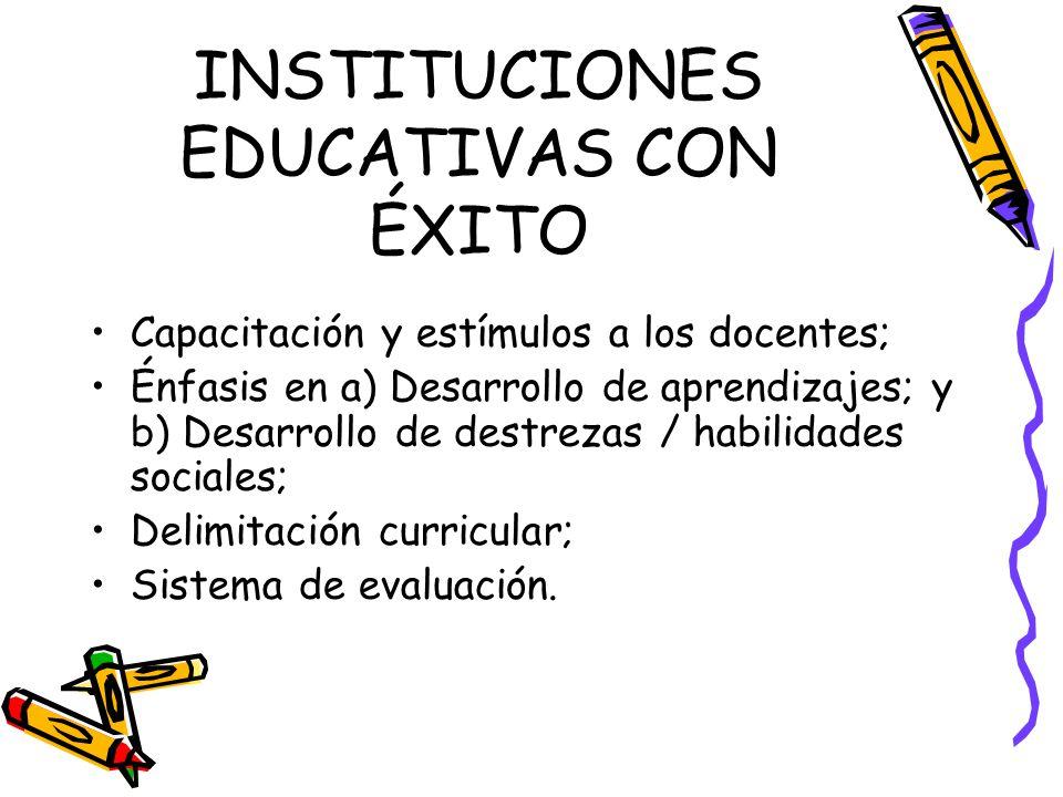 INSTITUCIONES EDUCATIVAS CON ÉXITO