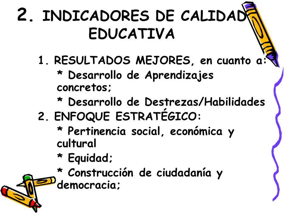 2. INDICADORES DE CALIDAD EDUCATIVA