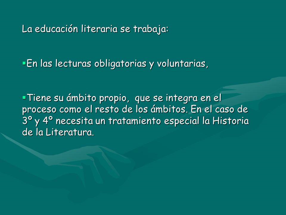 La educación literaria se trabaja: