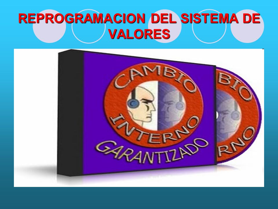 REPROGRAMACION DEL SISTEMA DE VALORES
