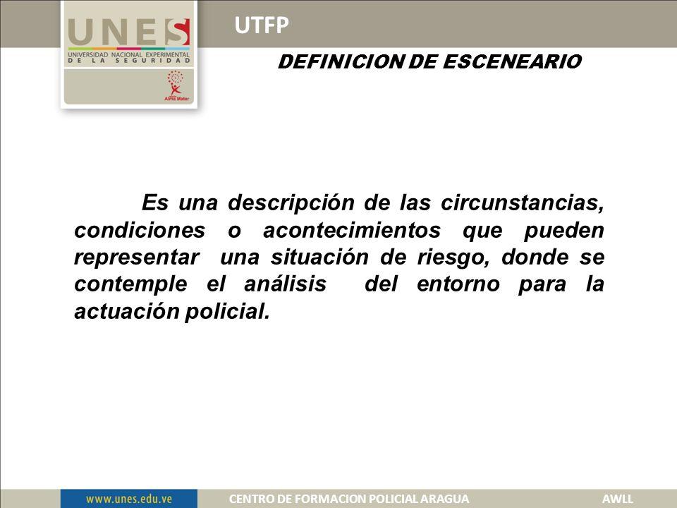 DEFINICION DE ESCENEARIO CENTRO DE FORMACION POLICIAL ARAGUA AWLL