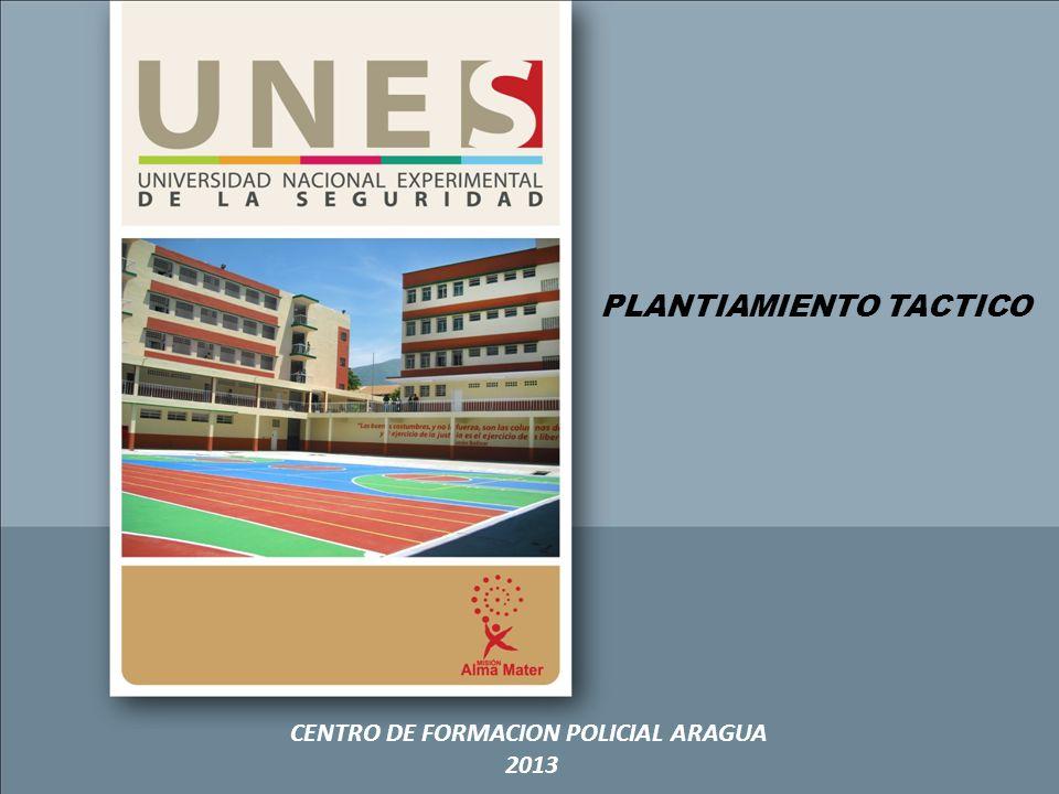 PLANTIAMIENTO TACTICO CENTRO DE FORMACION POLICIAL ARAGUA