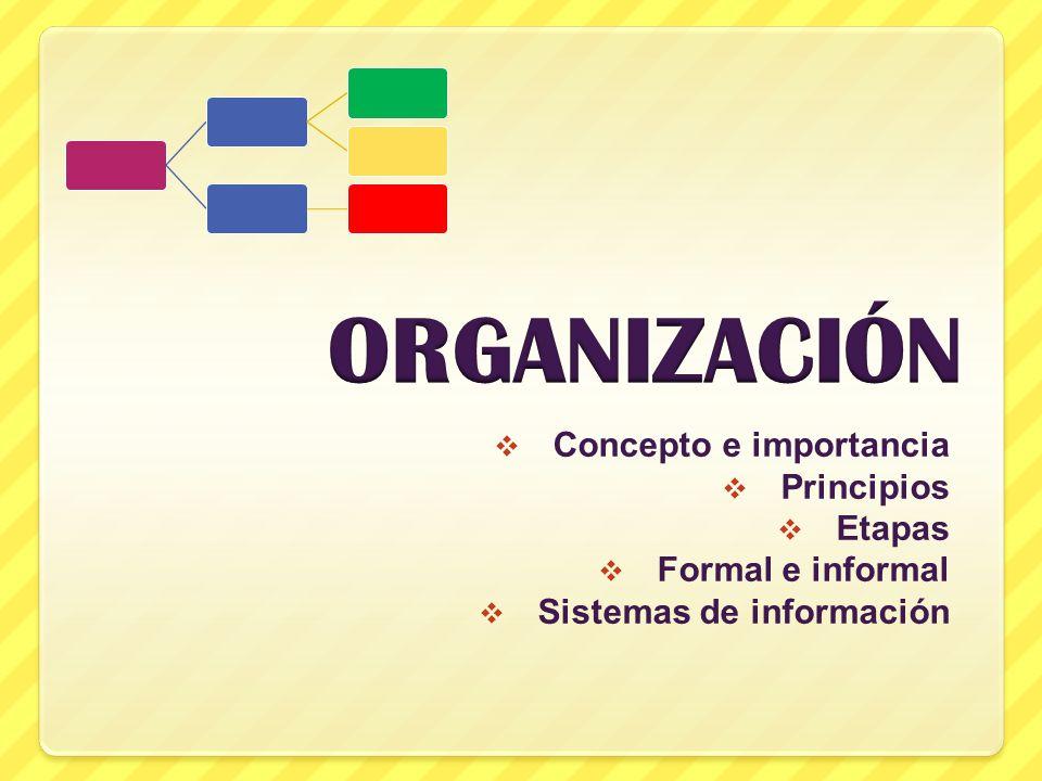 Organizaci n concepto e importancia principios etapas for Concepto de organizacion de oficina