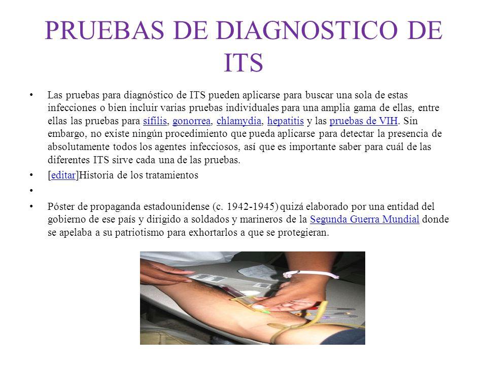 PRUEBAS DE DIAGNOSTICO DE ITS
