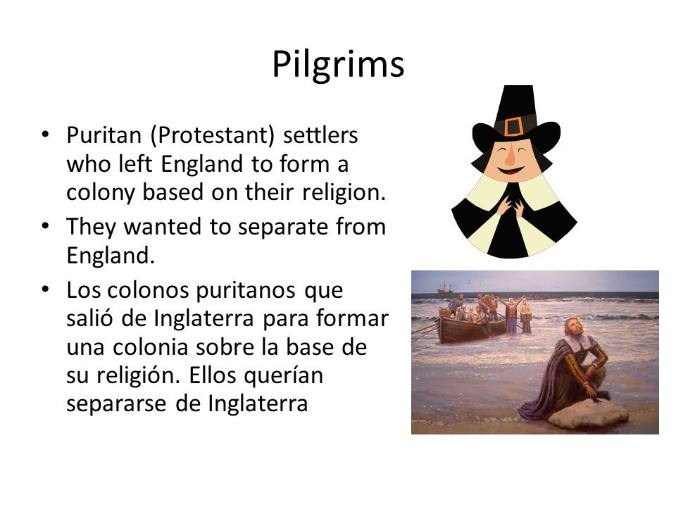 the pilgrims and their religion The pilgrims, a small group, came here seeking religious freedom for themselves  and were, not surprisingly, intolerant of other religions.