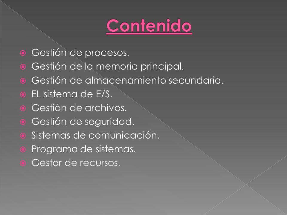 COMPONENTES DEL SISTEMA OPERATIVO. - ppt descargar