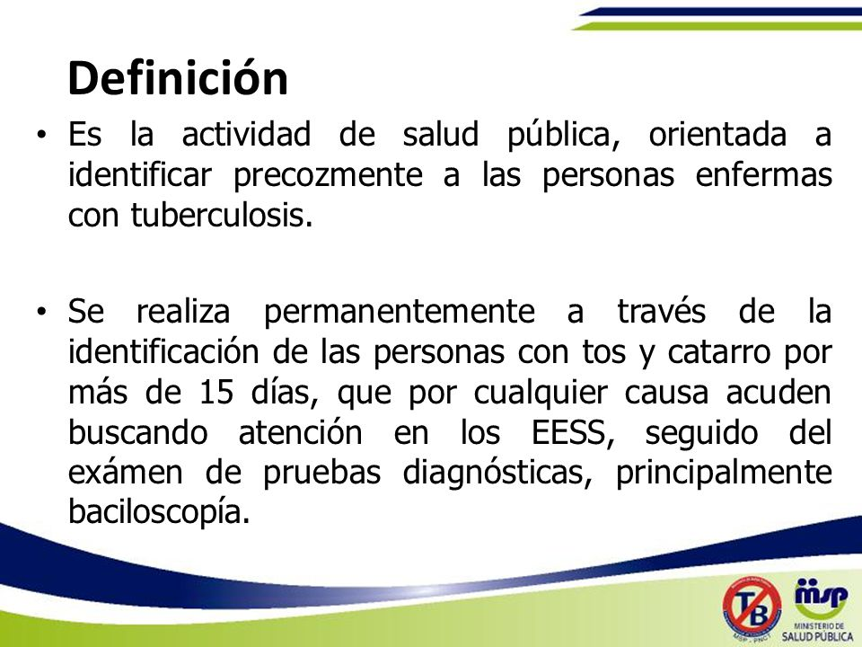 Detección de Casos de TB Programa Nacional de Control de