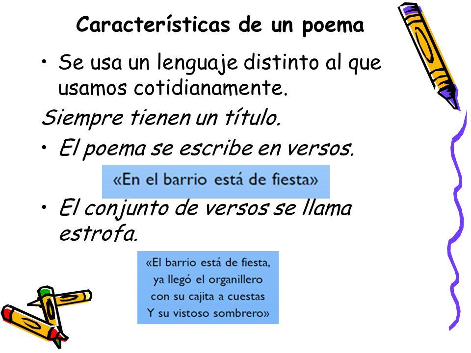 Características de un poema