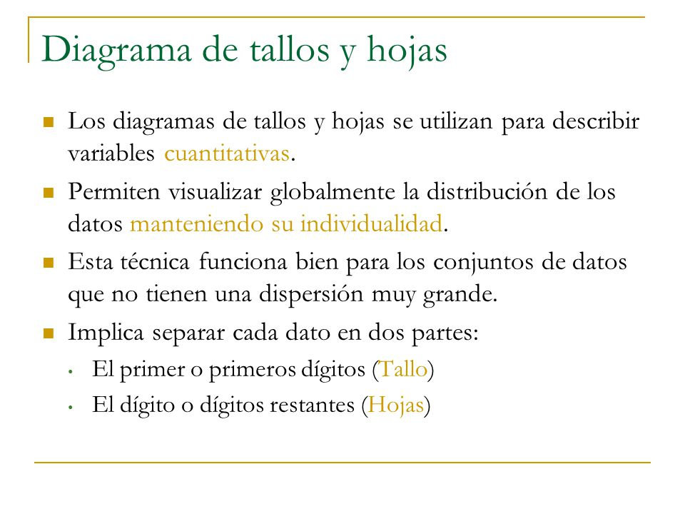 diagrama de hojas diagrama de fluxo dados gráfico de tallos y hojas diagrama de cajas - ppt descargar #8