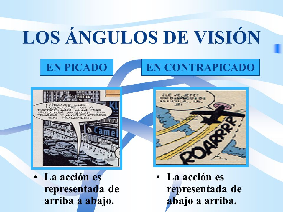 LOS ÁNGULOS DE VISIÓN EN PICADO EN CONTRAPICADO