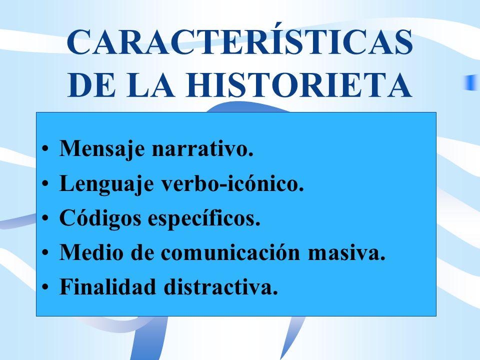 CARACTERÍSTICAS DE LA HISTORIETA