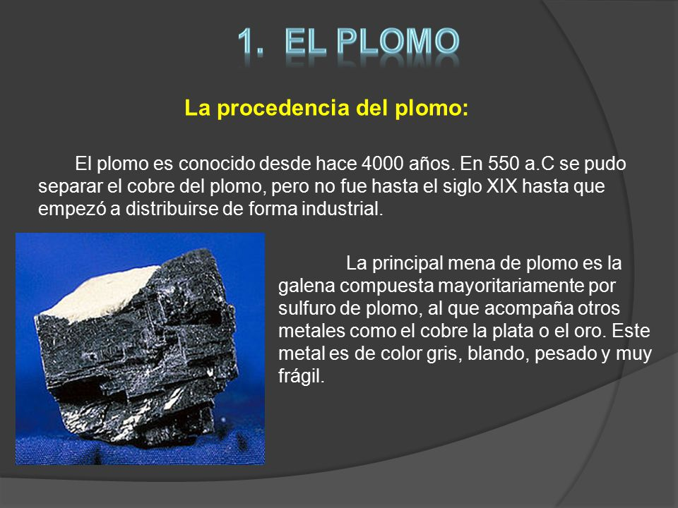 el plomo y el magnesio rosendo manuel cano exp sito ppt