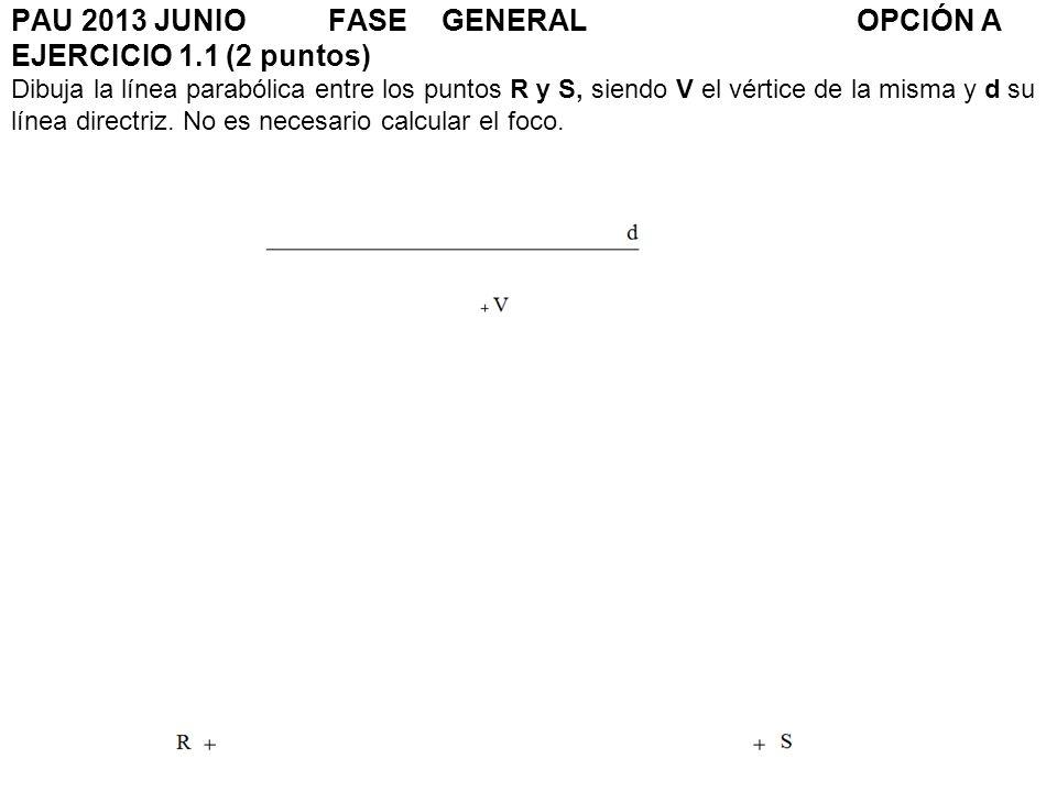PAU 2013 JUNIO. FASE. GENERAL. OPCIÓN A EJERCICIO 1