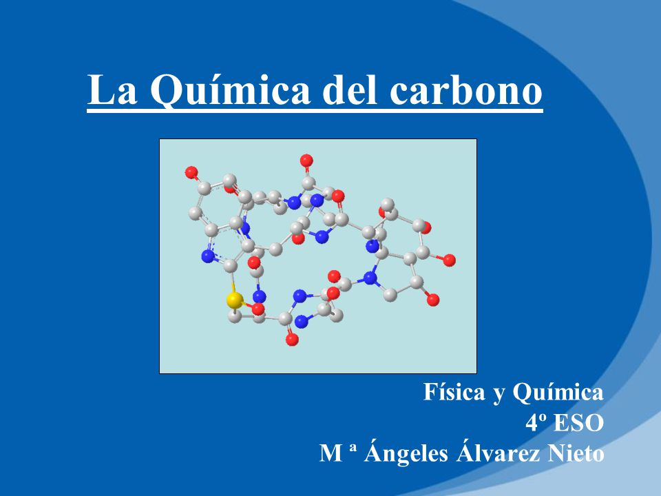 Física y Química 4º ESO M ª Ángeles Álvarez Nieto - ppt descargar