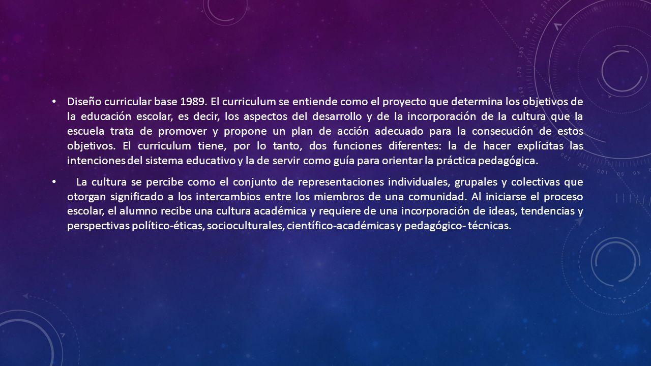 MODULO : DISEÑO CURRICULAR - ppt descargar