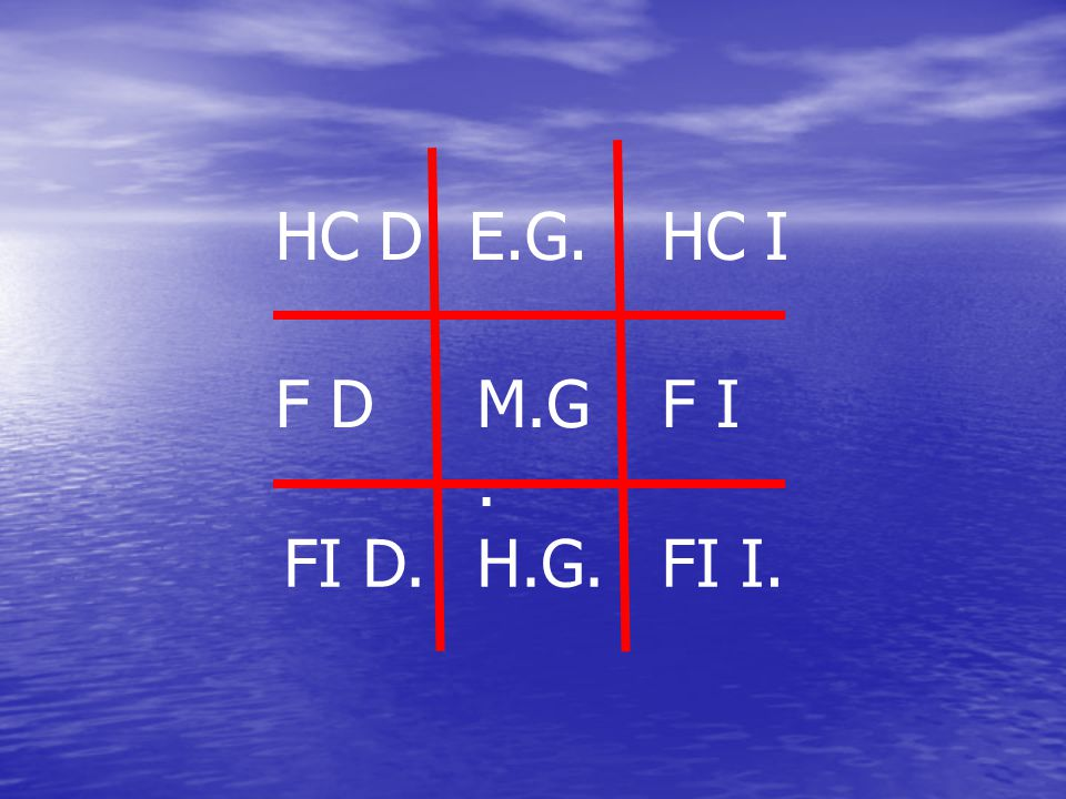 HC D E.G. HC I F D M.G. F I FI D. H.G. FI I.