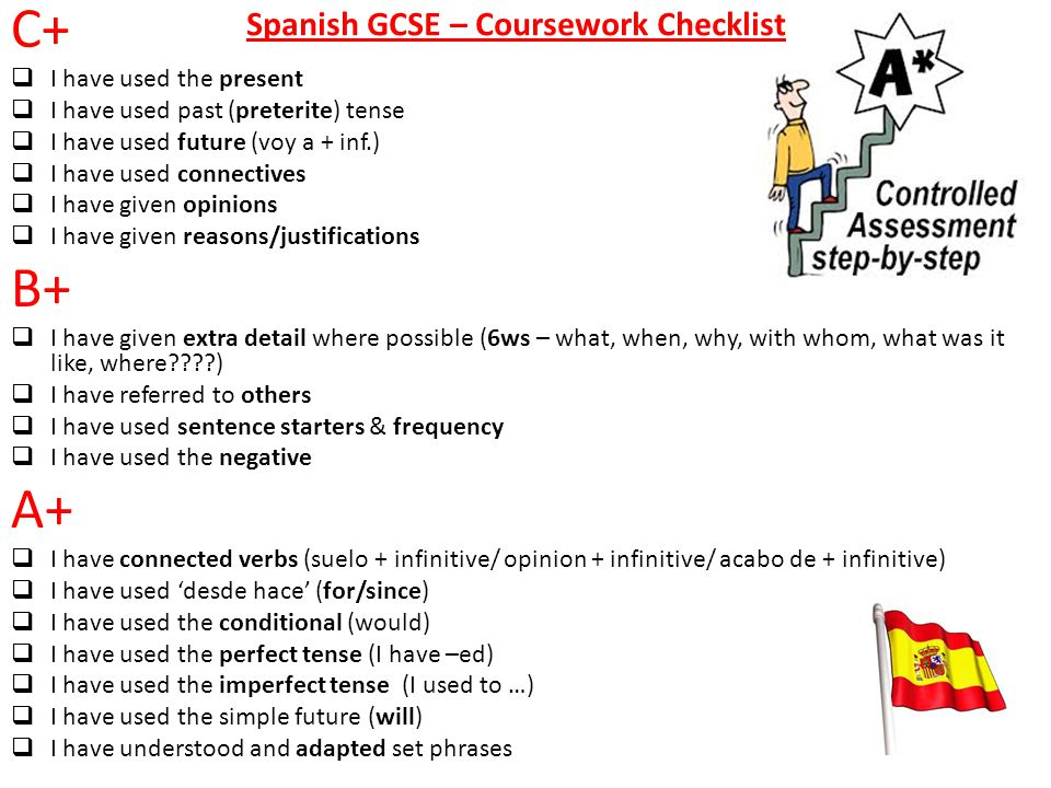 gcse spanish coursework holiday Find past papers and mark schemes for aqa exams, and specimen papers for new courses.