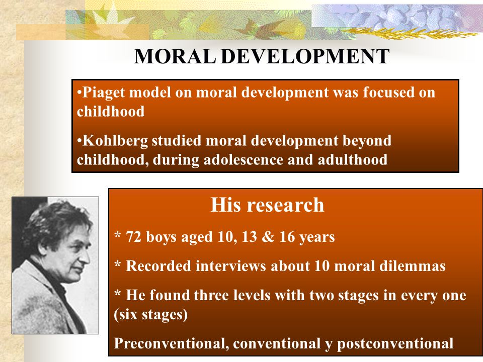 Theme, very Moral development adults