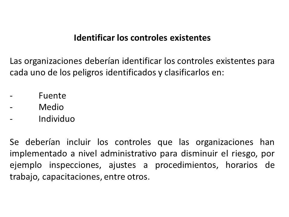 Identificar los controles existentes