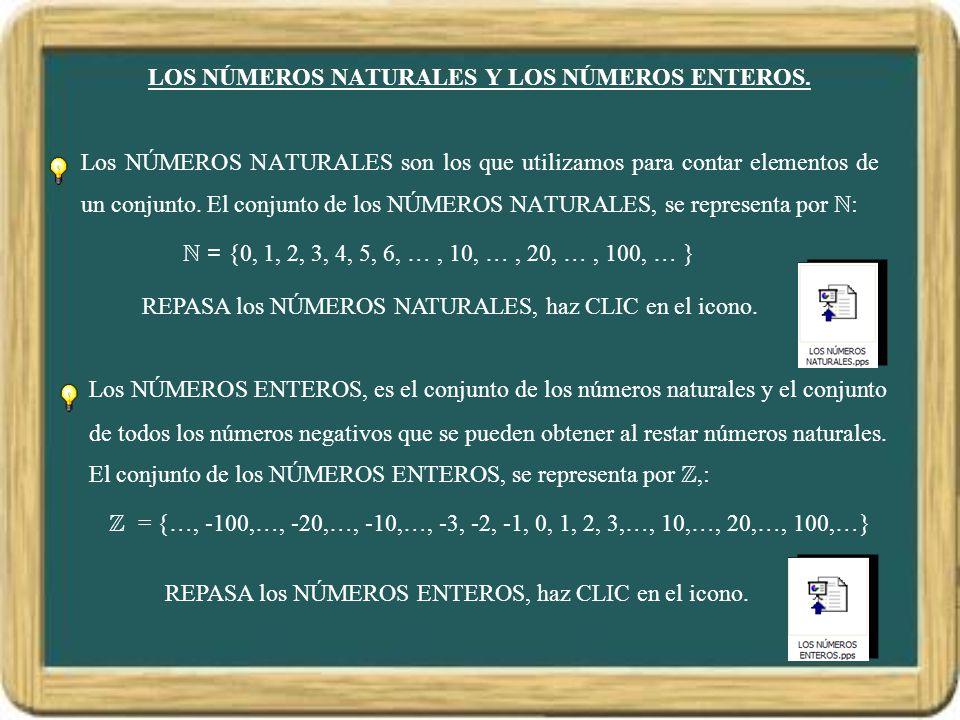 LOS NÚMEROS NATURALES Y LOS NÚMEROS ENTEROS.