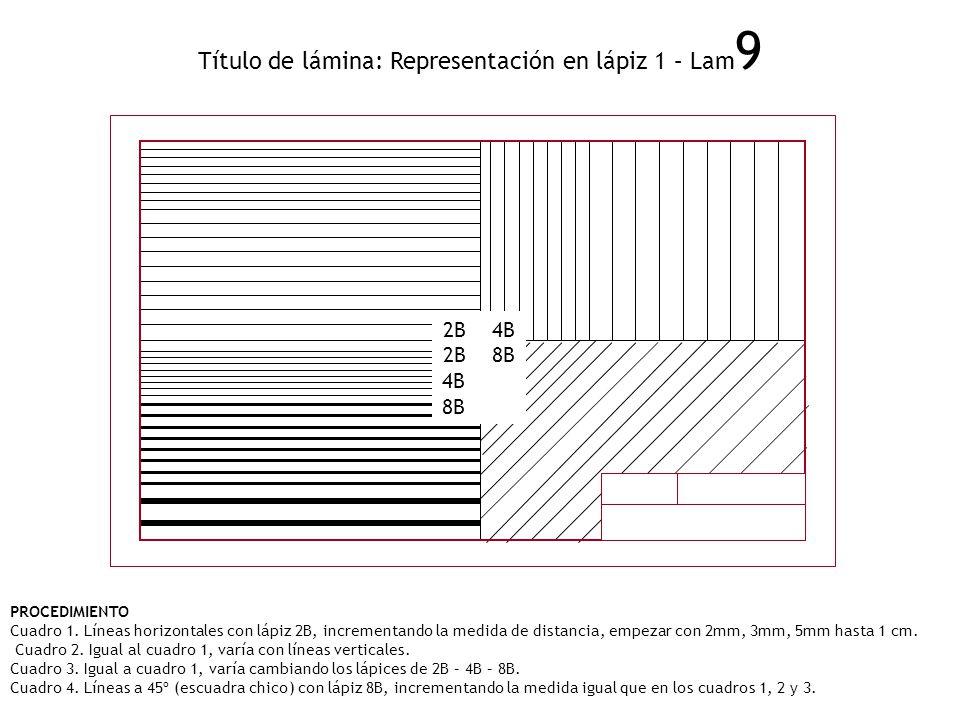 Título de lámina: Representación en lápiz 1 – Lam9