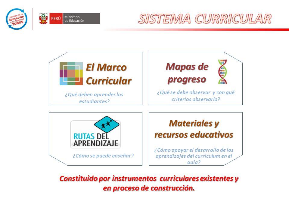 SISTEMA CURRICULAR El Marco Curricular Mapas de progreso