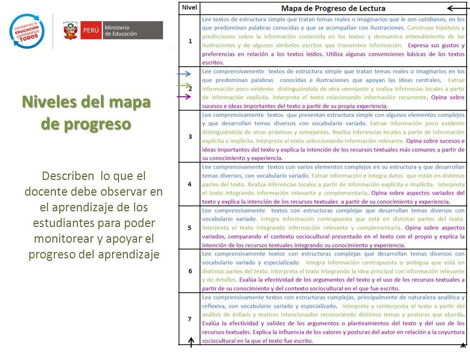 Niveles del mapa de progreso