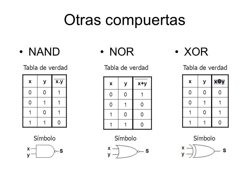 Arquitectura de computadores ppt descargar for Puerta xor tabla de verdad
