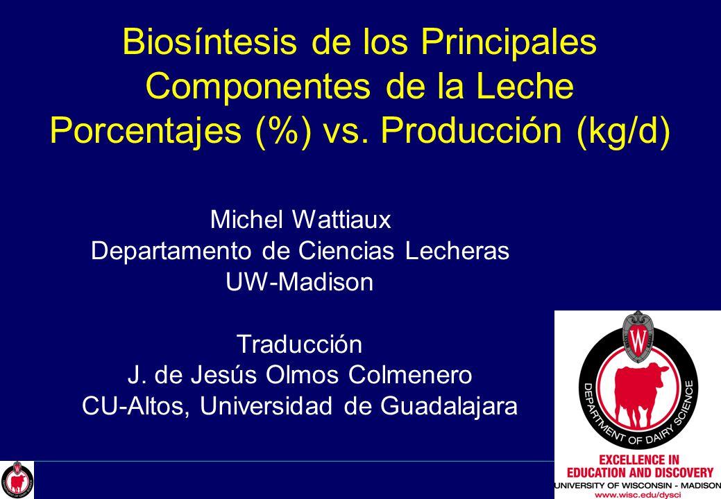Michel Wattiaux Departamento de Ciencias Lecheras UW-Madison - ppt ...