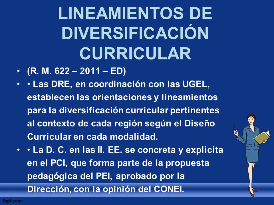 LINEAMIENTOS DE DIVERSIFICACIÓN CURRICULAR