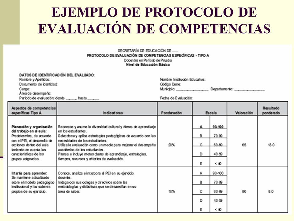 Evaluaci n de docentes y directivos docentes en per odo de for Ejemplo protocolo autocontrol piscinas