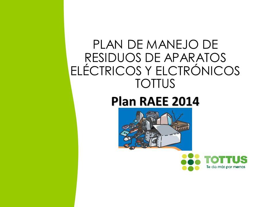PLAN DE MANEJO DE RESIDUOS DE APARATOS ELÉCTRICOS Y ELCTRÓNICOS TOTTUS