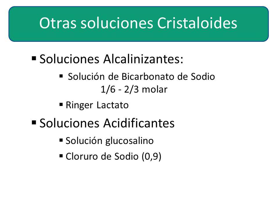Otras soluciones Cristaloides