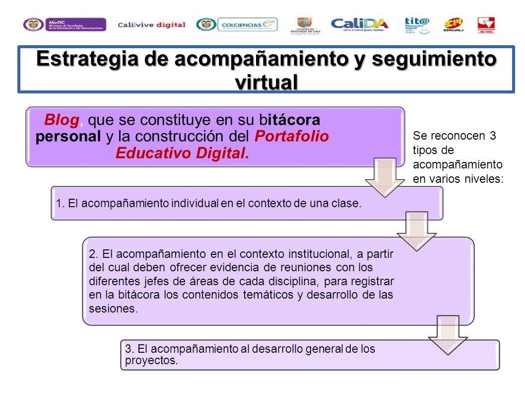 Estrategia de acompañamiento y seguimiento virtual
