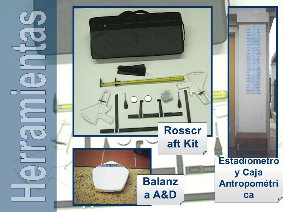 Estadiómetro y Caja Antropométrica
