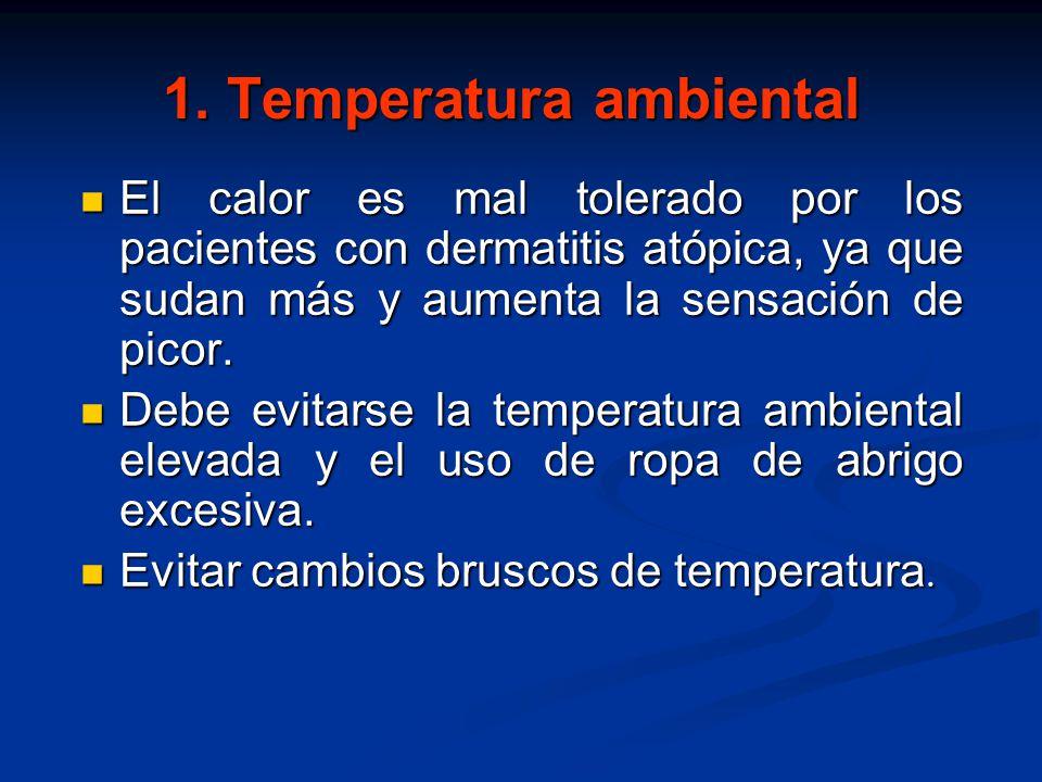 1. Temperatura ambiental