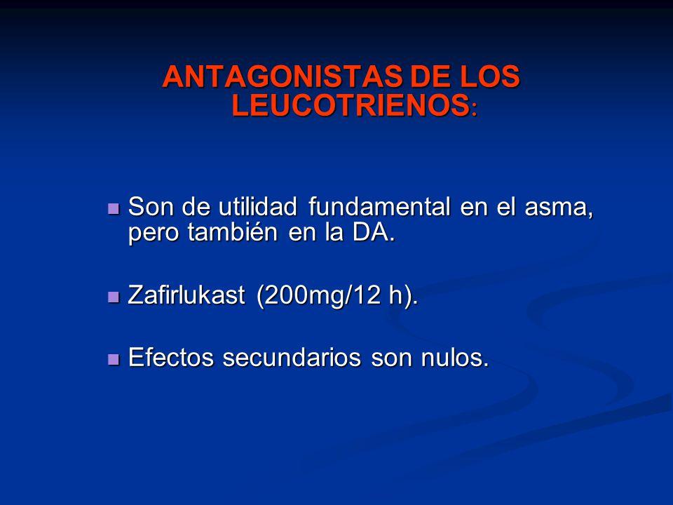 ANTAGONISTAS DE LOS LEUCOTRIENOS: