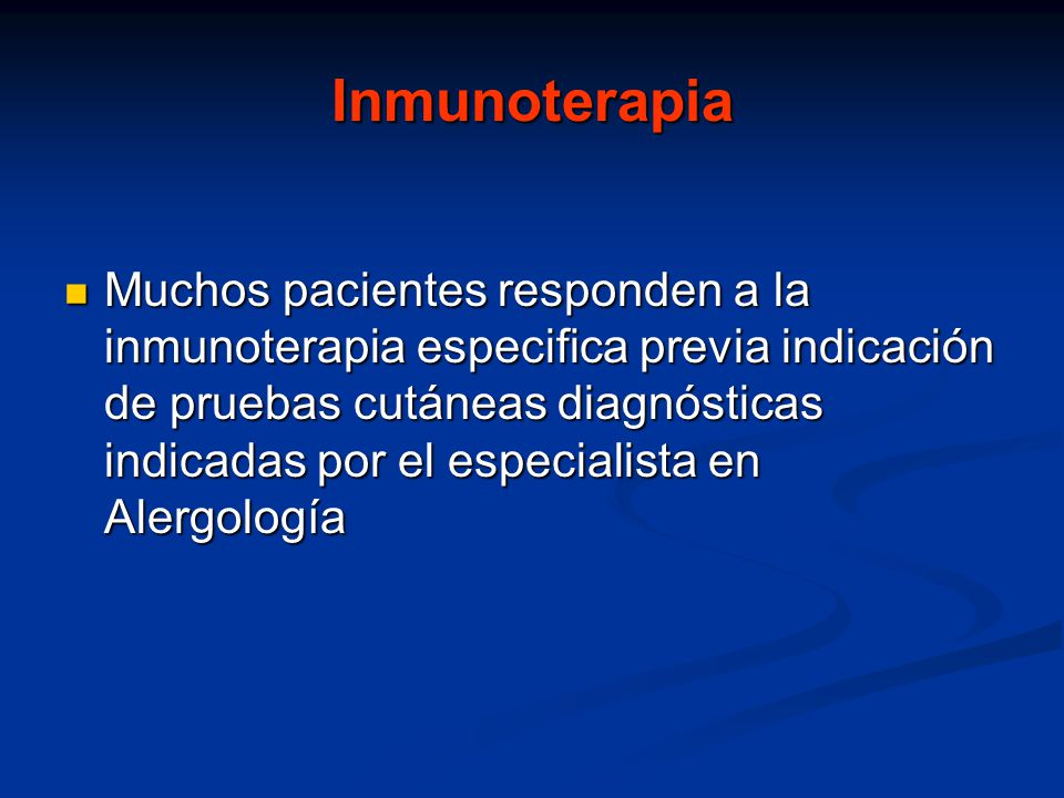 Inmunoterapia