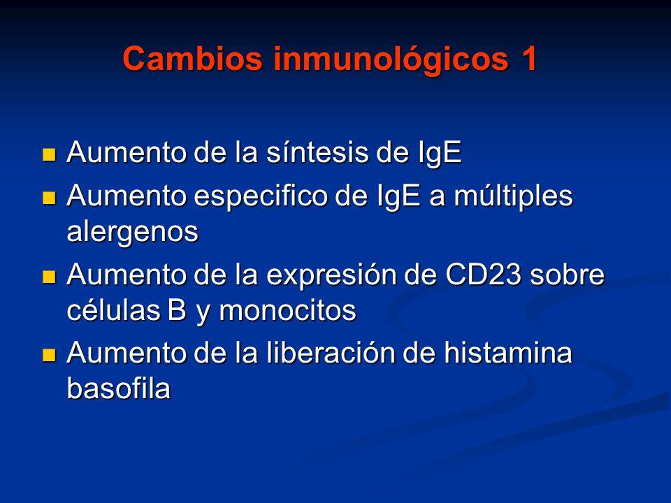 Cambios inmunológicos 1