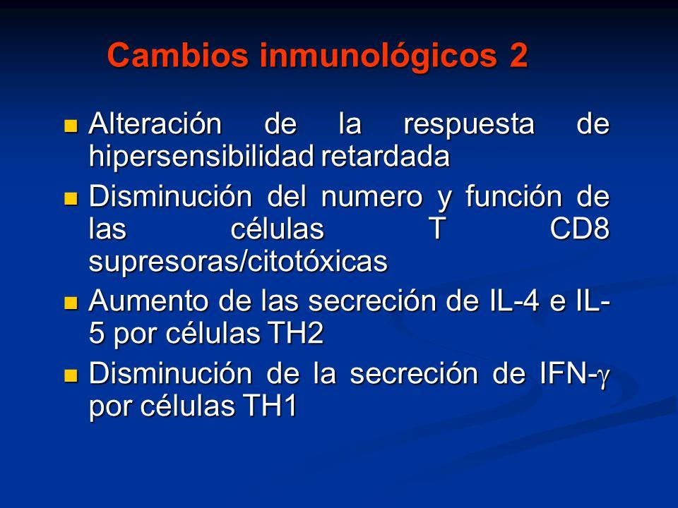 Cambios inmunológicos 2