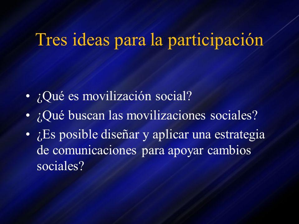 Tres ideas para la participación