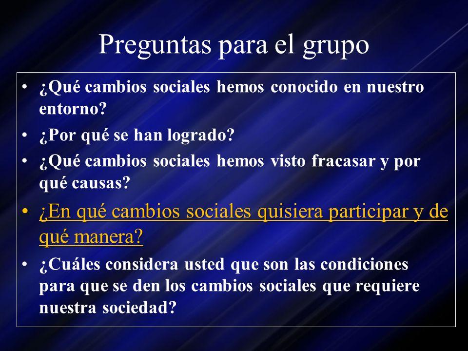 Preguntas para el grupo
