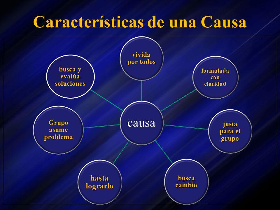 Características de una Causa