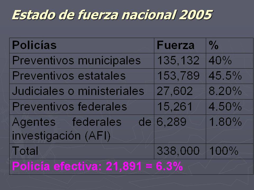 Estado de fuerza nacional 2005