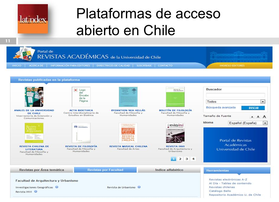 Plataformas de acceso abierto en Chile