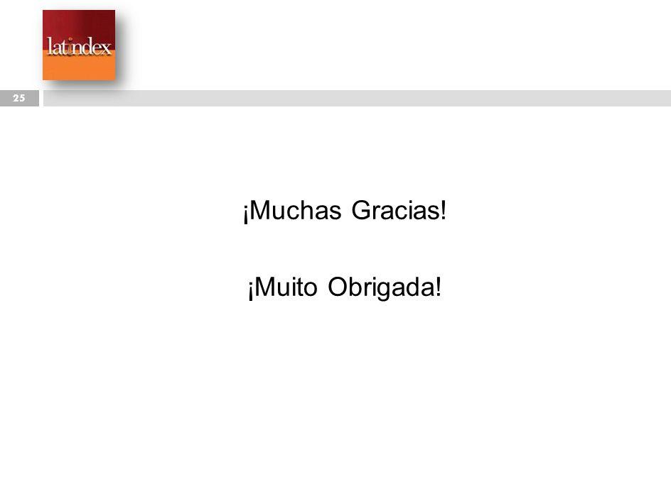 ¡Muchas Gracias! ¡Muito Obrigada!